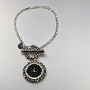 Designer authentic button bracelet.